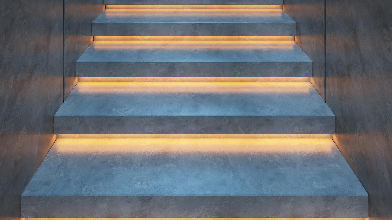 Led Strip Woonkamer : Ledstrips stairway lighting steps shada