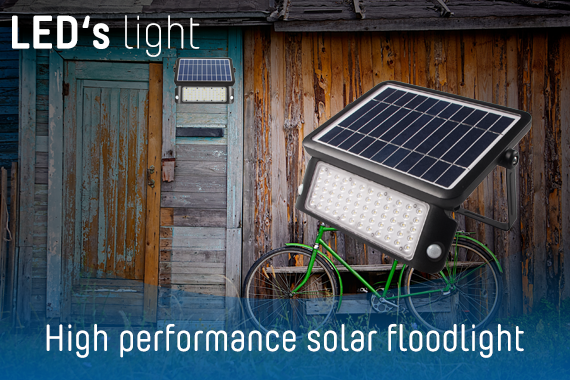 High Performance Solar Floodlight